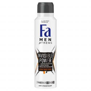 Fa Mens Invisible Power Deodorant Spray 150ml