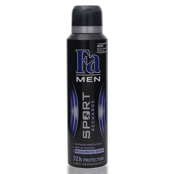 Fa Mens Sport Recharge Deodorant Spray 150ml