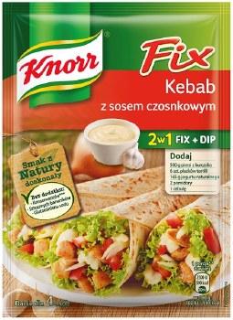 Knorr Fix 2 in 1 Kebab with Garlic Dip 40g (Kebab z Sosem Czosnkowym)