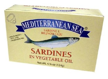 Mediterranean Sea Sardines in Vegetable Oil 124g