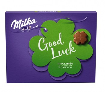 Milka Good Luck Chocolate Mousse Pralines 110g