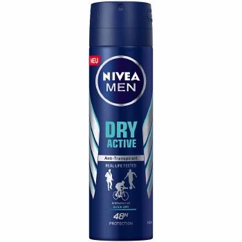 Nivea Dry Active Mens Deodorant Spray 150ml