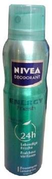Nivea Spray Deodorant Energy Fresh Women