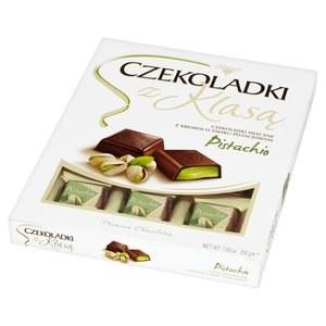 Solidarnosc Premium Pistachio Chocolate Squares 200g