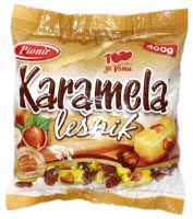 Pionir Karamela Milk Caramel Candy with Hazelnut 400g