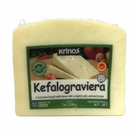 Krinos Kefalograviera Semi Hard Sheeps Milk Cheese 200g R