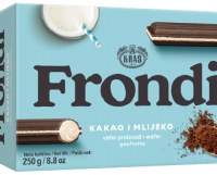 Kras Frondi Maxi Wafer Sticks With Cocoa and Milk Filling 250g