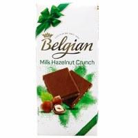 Belgian Milk Hazelnut Crunch Chocolate Bar 100g