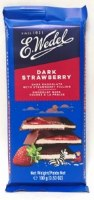 E. Wedel Dark Chocolate with Strawberry Filling 100g