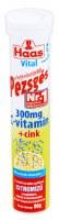 Haas Pezsges Lemon Flavor Vitamin C Zinc Vitamin Tablets 80g