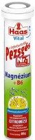 Haas Pezsges Lemon Flavor Magnesium and B6 Vitamin Tablets 80g