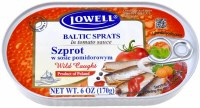 Lowell Baltic Sprats in Tomato Sauce 170g