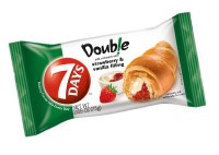 7 Days Croissant Double Strawberry and Vanilla 75g