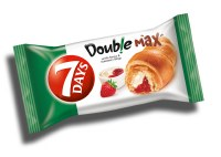 7 Days Croissant Double Strawberry and Vanilla 80g