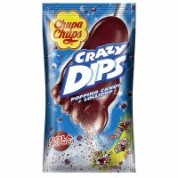 Chupa Chups Crazy Dip Cola Flavored Popping Candy and Lollipop 14g