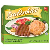 Brother and Sister Sudzukice Beef and Veal Sausage Links 1.6 lb F