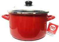 Metalac Red Stew Pot with Glass Lid 24cm Diameter