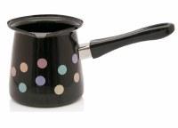 Metalac Dzezva Enamel Coffee Pot Black with Dots 1200 ml