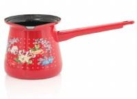 Metalac Dzezva Red Love Flowers Coffee Pot 400 ml