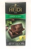Heidi Dark Chocolate with Lemon and Mint 80g