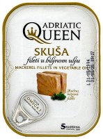 Adriatic Queen Mackerel in Vegetable Oil 105g
