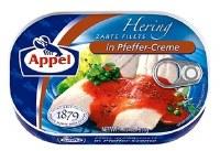 Appel Herring Fillets in Pfeffer Red Pepper Creme 200g