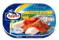 Appel Herring Fillets in Tomato Sauce with Curry Powder 200g