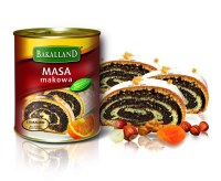 Bakalland Masa Makowa Poppy Seed Filling with Dried Fruit and Nuts 850g