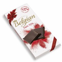 Belgian 72 Percent Dark Chocolate Bar 100g