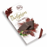 Belgian 85 Percent Dark Chocolate Bar 100g