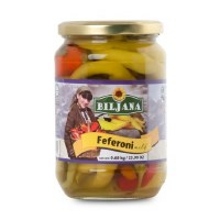 Biljana Hot Feferoni Peppers 680g