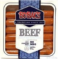 Bobaks Jumbo Premium Beef Frankfurters 14ox