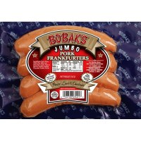 Bobaks Jumbo Pork Frankfuters 14oz