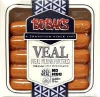 Bobaks Jumbo Premium Veal Frankfurters 14oz F