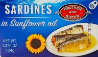 Brother and Sister Sardines in Sunflower Oil 124g