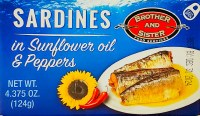 Brother and Sister Spicy Sardines in Sunflower Oil 124g