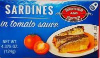 Brother and Sister Sardines in Tomato Sauce 124g