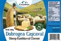 Carpathian Dobrogea Cascaval Cheese 400g R