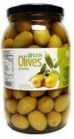 Chloe Green Olives Whole 1kg