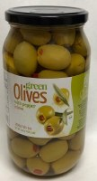 Chloe Green Olives with Peppers 1kg