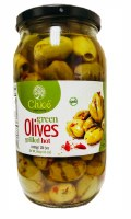 Chloe Grilled Hot Green Olives 1kg