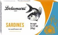 Delamaris Sardines in Sunflower Oil 90g