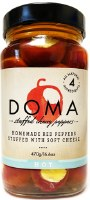 Doma Red Cherry Hot Peppers with Cheese 470g