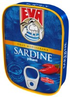 Eva Sardines with Hot Peppers in Vegetable Oil 115g