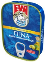 Eva Tuna Fillets in Olive Oil 115g