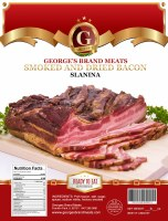 George's Brand Dry Cured & Smoked Bacon Approx  1 lb
