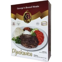 Georges Brand Pork Beef and Veal Pljeskavica Patties 1.5 lb F