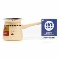 Metalac Dzezva Enamel Coffee Pot Beige 4cm Diameter