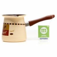 Metalac Dzezva Enamel Coffee Pot Beige 12cm Diameter
