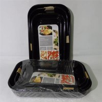 LS Home Enamel Baking Tray 3pc Set